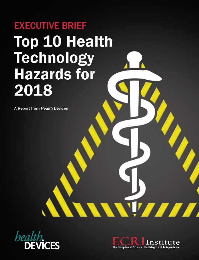 Top 10 Health Technology Hazards 2018