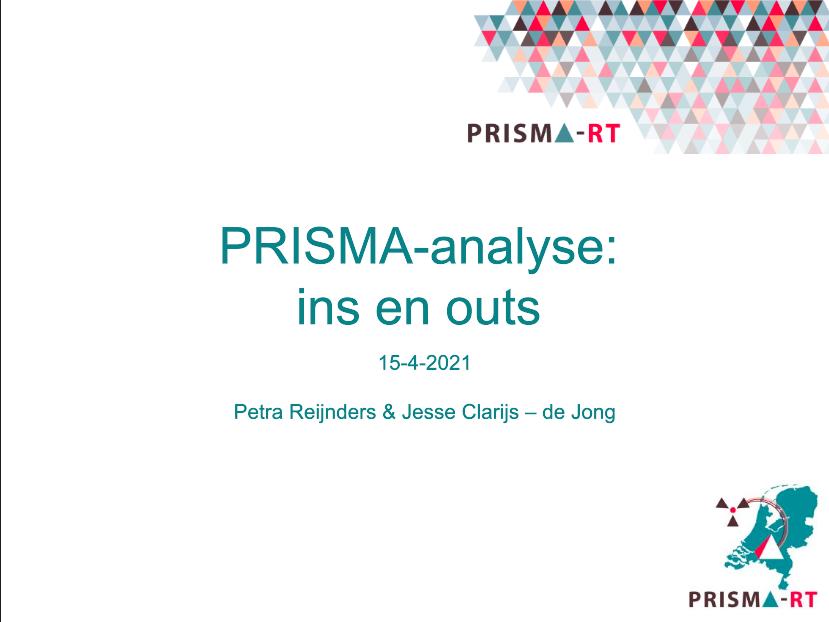 Een succes: De eerste webinar PRISMA-RT!